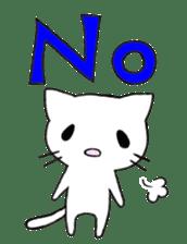 Very cute white cat sticker sticker #2112980