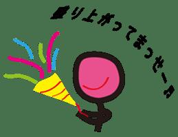 A stick person and Mr. Smile sticker #2114357