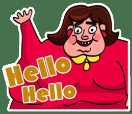 Fat Mama - Yo Mama - English Language sticker #2114902