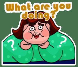 Fat Mama - Yo Mama - English Language sticker #2114936