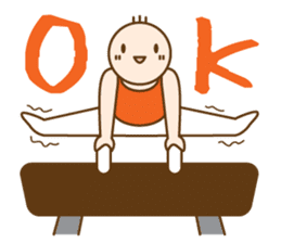 Gymnast (English) sticker #2115355