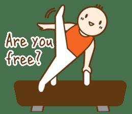 Gymnast (English) sticker #2115357