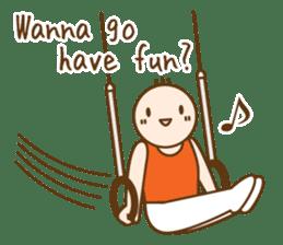 Gymnast (English) sticker #2115359