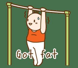 Gymnast (English) sticker #2115374