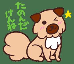 Michael a hybrid dog living in Hakata 2 sticker #2118108