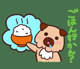 Michael a hybrid dog living in Hakata 2 sticker #2118128