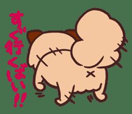 Michael a hybrid dog living in Hakata 2 sticker #2118129