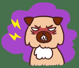 Michael a hybrid dog living in Hakata 2 sticker #2118139