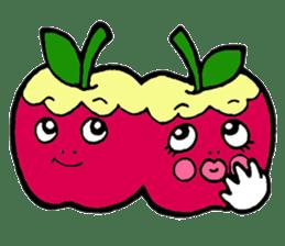 Mr.apple Ms.apple sticker #2119505