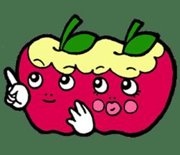 Mr.apple Ms.apple sticker #2119526