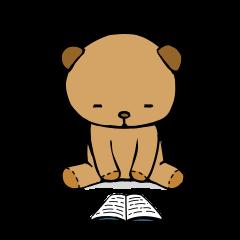 It is the sticker of the teddy bear
