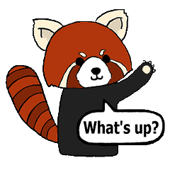 Red panda's relaxing life