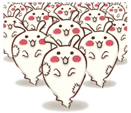 Urameshirabbit-Japanese sticker #2125410