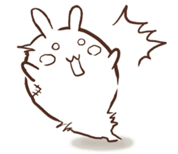 Urameshirabbit-Japanese sticker #2125411