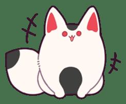 Marshmallow fox sticker #2126585