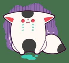 Marshmallow fox sticker #2126586