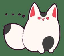 Marshmallow fox sticker #2126591