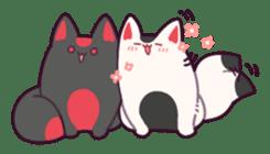 Marshmallow fox sticker #2126594