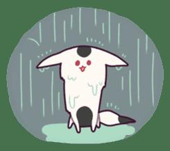 Marshmallow fox sticker #2126599