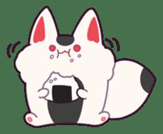 Marshmallow fox sticker #2126600