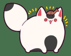 Marshmallow fox sticker #2126609