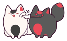 Marshmallow fox sticker #2126612