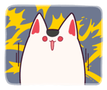 Marshmallow fox sticker #2126619