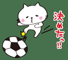 Crazy Soccer CAT sticker #2127821