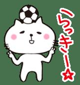 Crazy Soccer CAT sticker #2127837