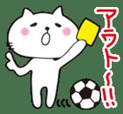 Crazy Soccer CAT sticker #2127843