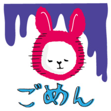 Mofumofu animals.And cat and rabbit. sticker #2128914