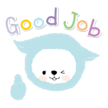 Mofumofu animals.And cat and rabbit. sticker #2128918