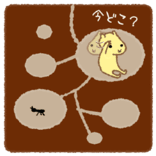 Mofumofu animals.And cat and rabbit. sticker #2128941