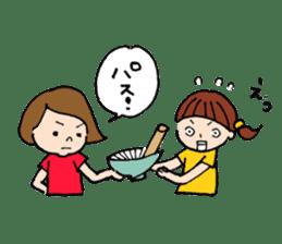 sesame girl sticker #2130834