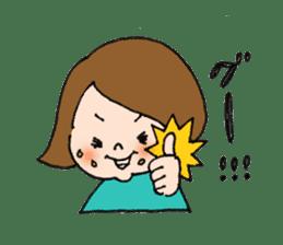 sesame girl sticker #2130835