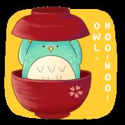 สติ๊กเกอร์ไลน์ Hoo-Hoo- Owl