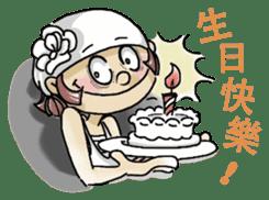 Lovely J girl-(1) sticker #2137690