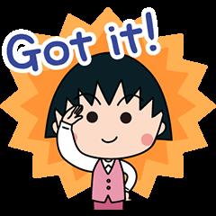สติ๊กเกอร์ไลน์ จิบิมารุโกะจังเป็นสาวออฟฟิส