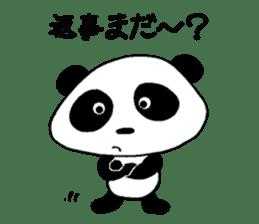 He is a panda. sticker #2140070