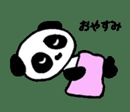 He is a panda. sticker #2140076