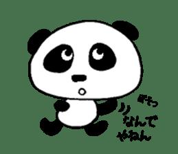 He is a panda. sticker #2140080