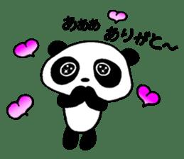 He is a panda. sticker #2140103