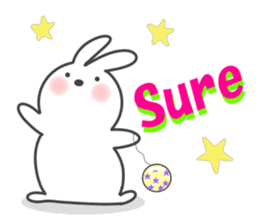 POP POP Rabbit ! (English) sticker #2140156