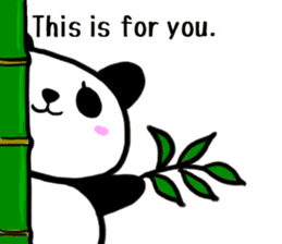 The Shy Panda -English varsion- sticker #2143669