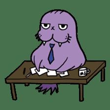 Purple Walrus sticker #2147829