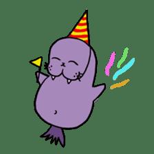 Purple Walrus sticker #2147850