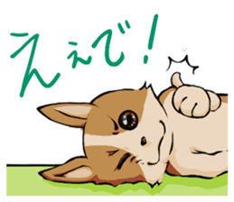Kansai dialect  Corgi raboo sticker #2147904