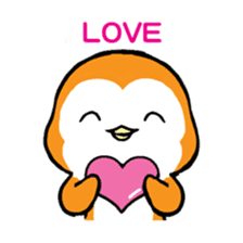 ORANGE PENGUIN sticker #2148791