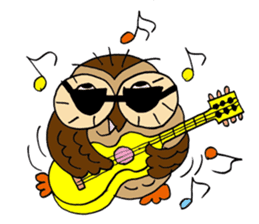 THE OWL TURNED INTO A WISE MAN sticker #2150135