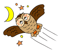 THE OWL TURNED INTO A WISE MAN sticker #2150137